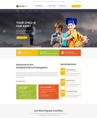 bootstrap小学生课程培训教育html网站模板