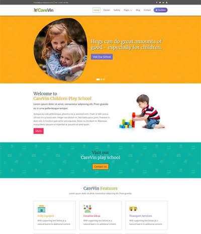 Bootstrap幼儿园学校html静态网站模板