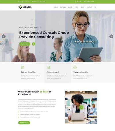 Bootstrap咨询管理公司html网站模板