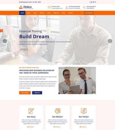 商业咨询公司Bootstrap静态网页模板