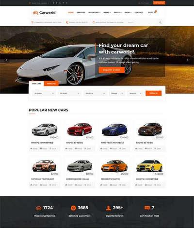 Bootstrap汽车经销商4S店官网html静态模板