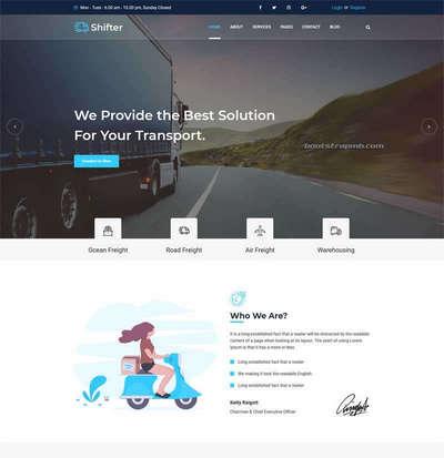 Bootstrap物流快递运输公司html网站模板