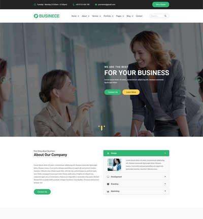 大气Bootstrap商业金融公司html