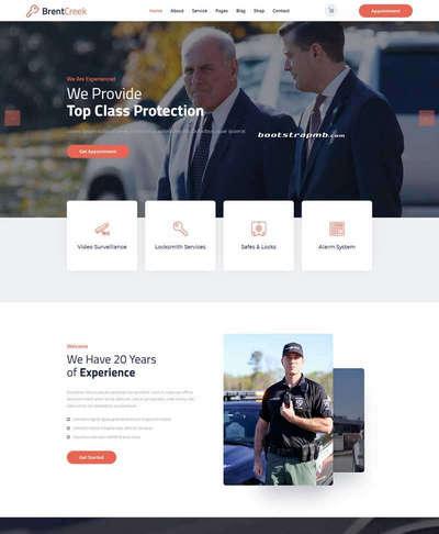 大气安保服务公司响应式网站模板