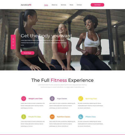 大气健身减肥计划定制html网站模