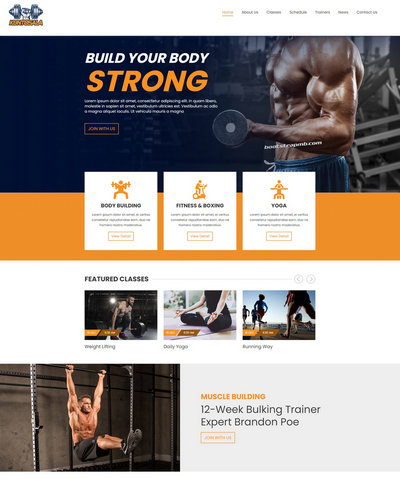 大气健身俱乐部Bootstrap网站模