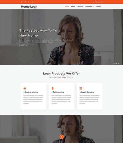 大气通用商业服务企业html网站模