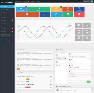 win8风格网页html全站后台管理模板下载