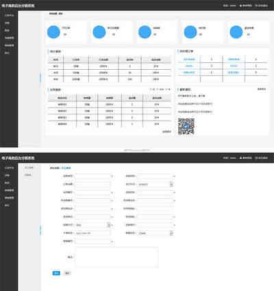 电子商务后台分销系统html静态页面模板