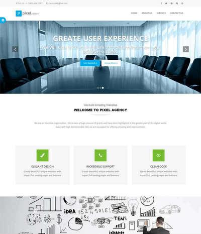 bootstrap金融业务咨询服务html