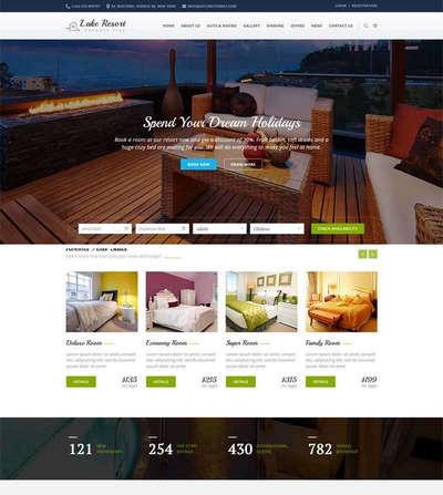 Bootstrap旅游酒店预订html静态网页模板