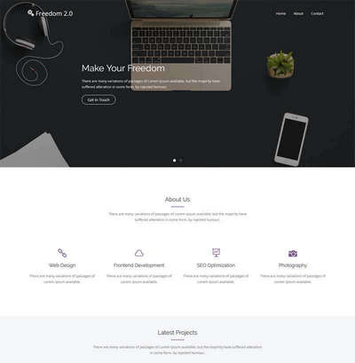 bootstrap平面广告设计公司html网页模板