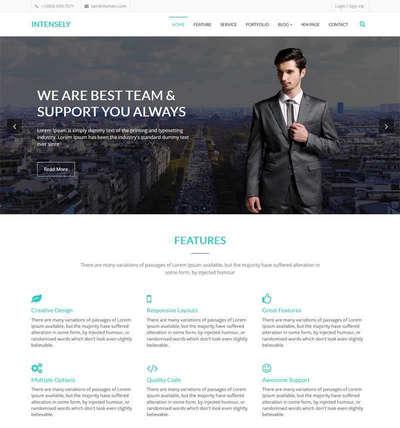bootstrap商务合作业务公司html