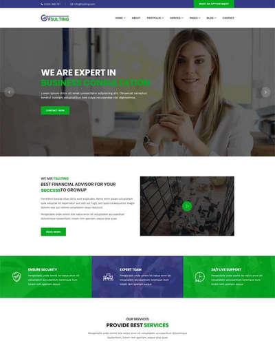 大气商务金融咨询bootstrap网站模板