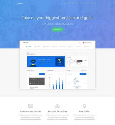 简洁互联网云数据开发平台html网站模板