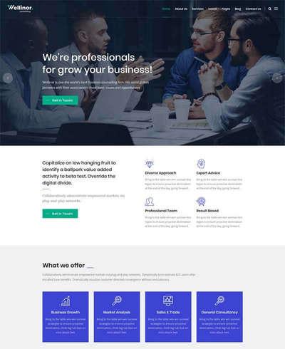 bootstrap商业金融咨询公司网站
