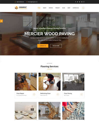 大气地板瓷砖装修设计公司网站模板